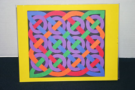 Funezcrafts easy paper crafts celtic design 12 circles for Easy crafts for kids with construction paper