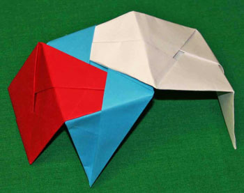 Easy paper crafts folded box ornament step 14