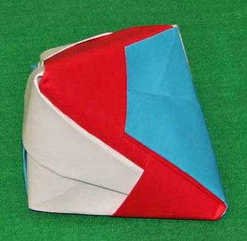 Easy paper crafts folded box ornament step 15