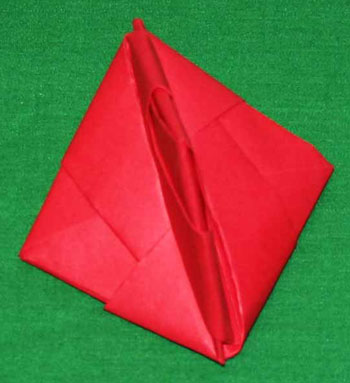 Easy paper crafts folded box ornament step 19