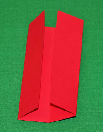 Easy paper crafts folded box ornament step 3