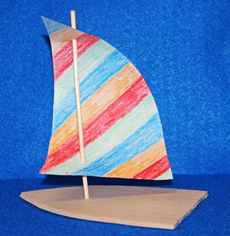 Easy Paper Sailboat