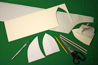 Easy paper crafts sailboat start