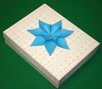 Easy paper crafts seven point star on gift package