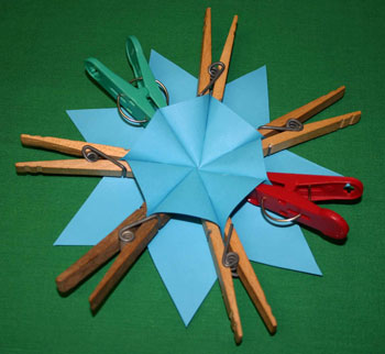 Easy paper crafts seven point star step 8