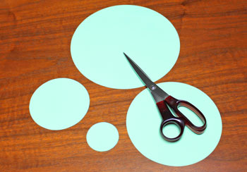 Folded Paper Circles Christmas Tree step 1 cut shapes