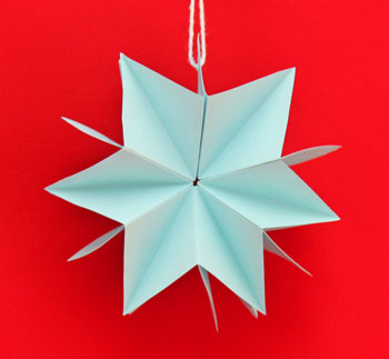 Folded Paper Squares Star
