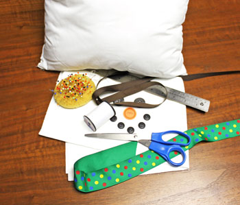 Fred the snowman pillow materials and tools