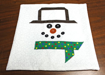 Fred the Snowman Pillow step 11 turn right side out