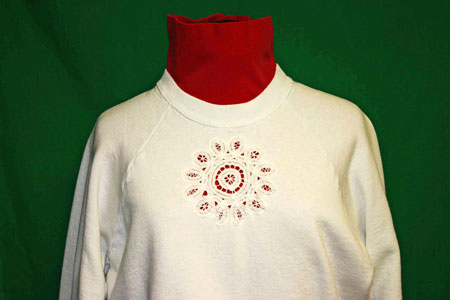 Frugal-Fun-Crafts-White-Sweatshirt-with-six-inch-Battenberg-lace