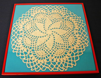 Frugal fun crafts framed doily check framing