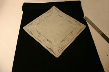 Frugal fun crafts handkerchief wall hanging measure and cut material