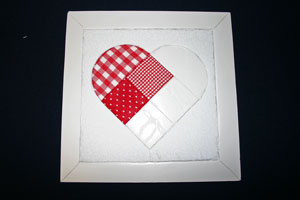 Frugal fun crafts punched quilt heart add heart pieces
