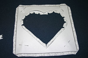 Frugal fun crafts punched quilt heart clips curves, corners and points