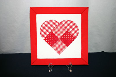 Frugal fun crafts punched quilt heart complete