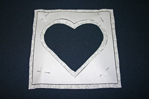 Frugal fun crafts punched quilt heart cut heart frame