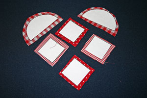 Frugal fun crafts punched quilt heart cut heart pieces