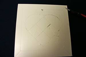 Frugal fun crafts punched quilt heart cut lines