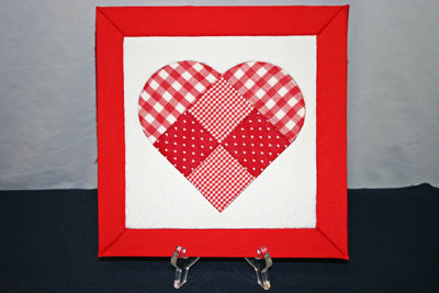 Frugal fun crafts punched quilt heart finished