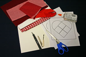 Frugal fun crafts punched quilt heart tools and materials