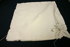 Frugal fun crafts sewn napkin pillow stop to insert pillow shape