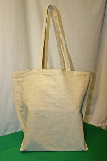 Frugal fun projects easy canvas shopping bag finished front view