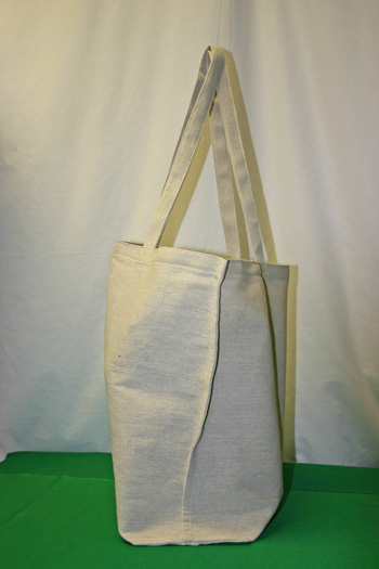 Frugal fun projects easy canvas shopping bag finished side view