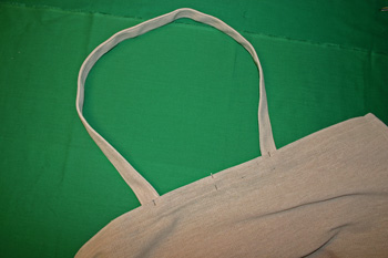 Frugal fun projects easy canvas shopping bag pin handle