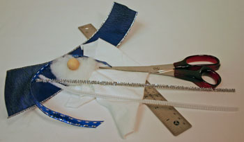 Easy Angel Crafts Handkerchief Angel materials and tools