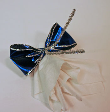 Easy Angel Crafts Handkerchief Angel twist wire around ribbon