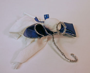 Easy Angel Crafts Handkerchief Angel form wire into halo and hanging hook