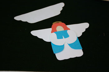 Easy Angel Crafts - Paper Angel add wings to back