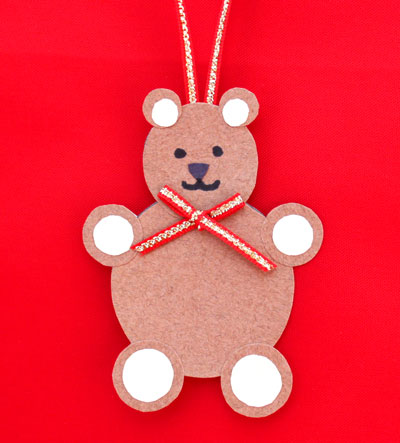 Paper Circles Teddy Bear