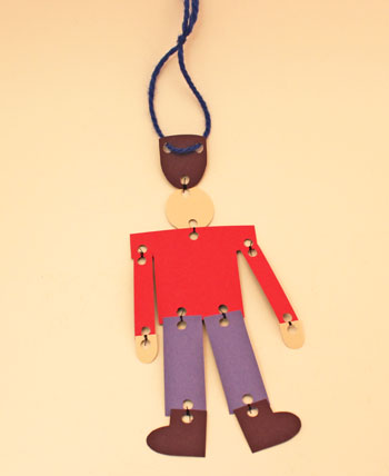 Paper Nutcracker Soldier finished construction paper