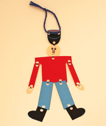 Paper Nutcracker Soldier