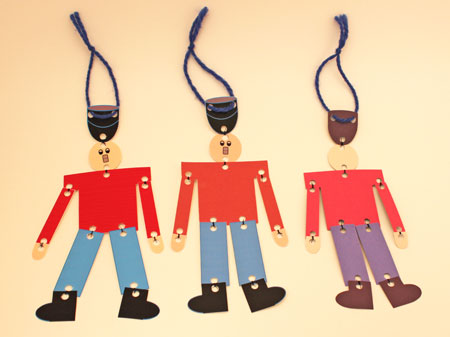 Easy Christmas Crafts Paper Nutcracker Soldier showing three different versions finished