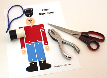 Paper Nutcracker Soldier materials and tools