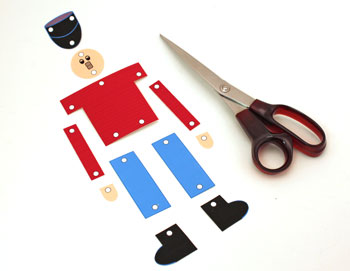 Paper Nutcracker Soldier step 1 cut around shapes