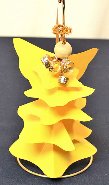 Easy Angel Crafts Paper-Star-Angel-Ornament-Pattern Step 16 curl ribbon