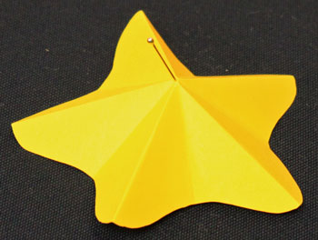 Easy Angel Crafts Paper-Star-Angel-Ornament-Pattern Step 6 make small hole in center