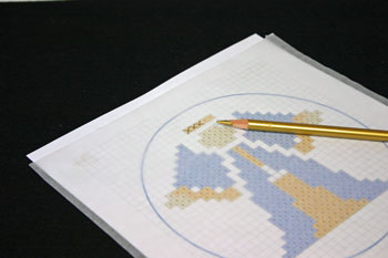 Easy Angel Crafts - Pen-Pencil Cross Stitch Angel copy crosses