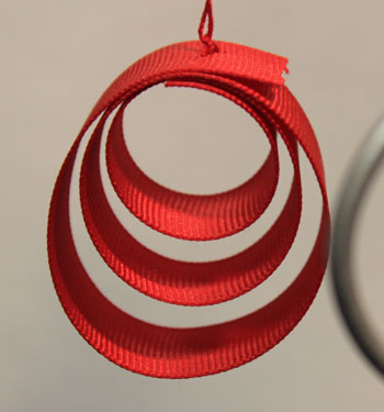 Funezcrafts Easy Christmas Crafts Ribbon Circles Ornament