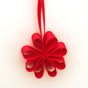 Funezcrafts Easy Christmas Crafts Ribbon Flower Ornament