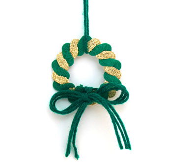 Rickrack Wreath Ornament