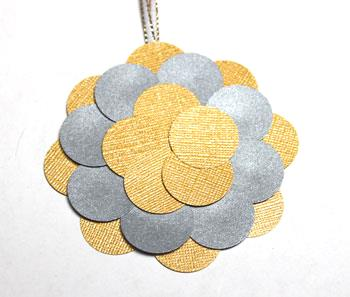 Round Paper Circles Ornament step 8 glue third layer