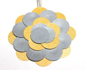 Round Paper Circles Ornament step 9 glue forth layer