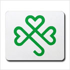 Shamrock Hearts Celtic Mousepad from funEZ Bazaar