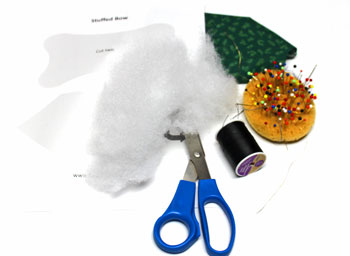 Stuffed Bow Decoration materials and tools