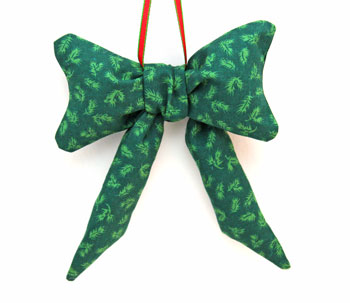 Stuffed Bow Decoration step 11 hang to display