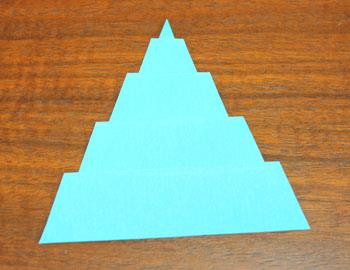 Art Deco Paper Christmas Tree step 10 crease folds